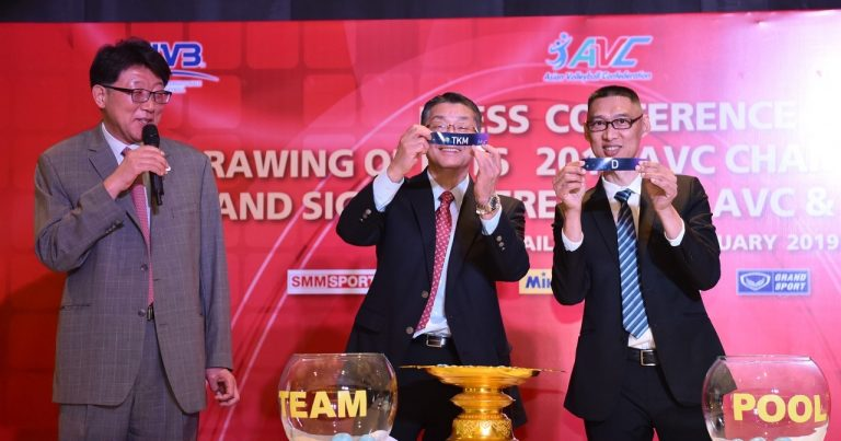 2019 ASIAN CHAMPIONSHIPS DRAWS CONFIRMED
