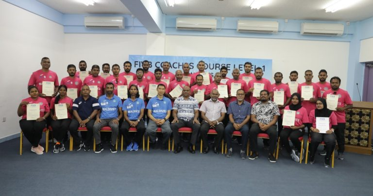 28 COACHES COMPLETE FIVB LEVEL I COACHES COURSE IN MALDIVES