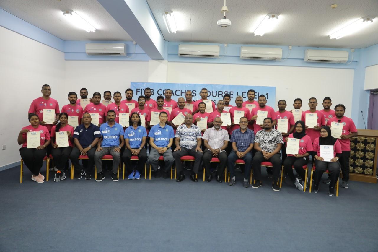 28 COACHES COMPLETE FIVB LEVEL I COACHES COURSE IN MALDIVES