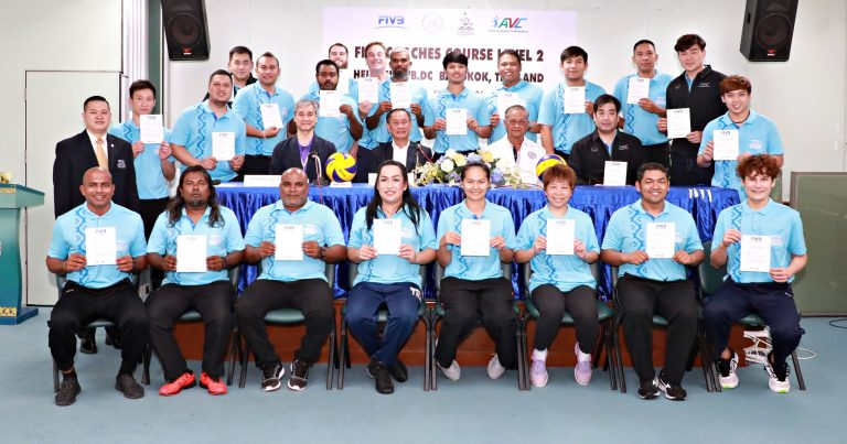 FIVB LEVEL II COACHES COURSE COMPLETED IN THAILAND