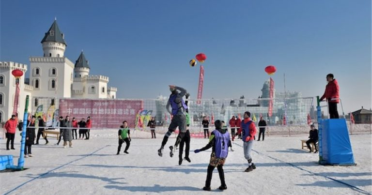 CHINA ENTERS INTERNATIONAL SNOW VOLLEYBALL SCENE