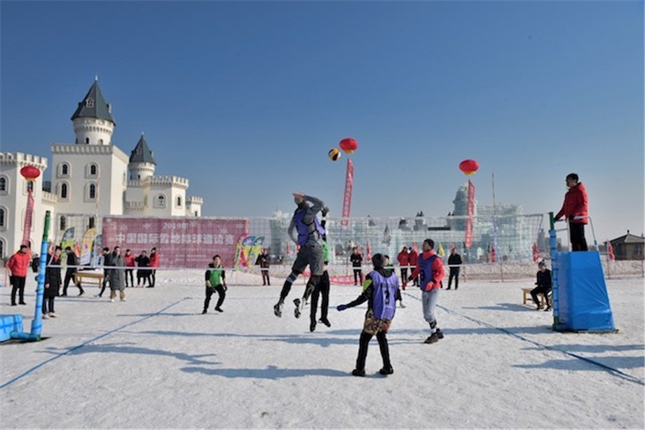 CHINA ENTERS INTERNATIONAL SNOW VOLLEYBALL SCENE