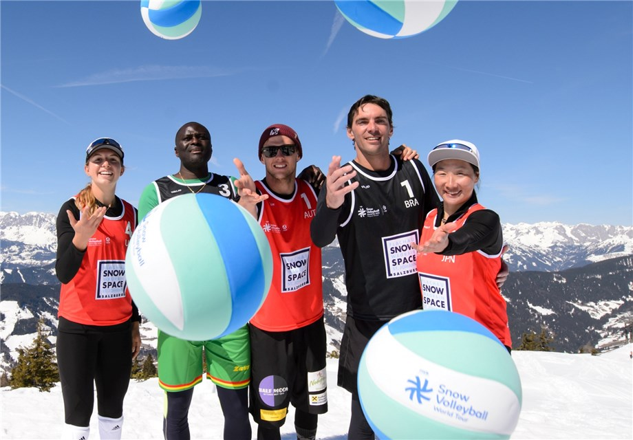 ALL FIVE CONTINENTS REPRESENTED AT SECOND SNOW VOLLEYBALL WORLD TOUR STOP