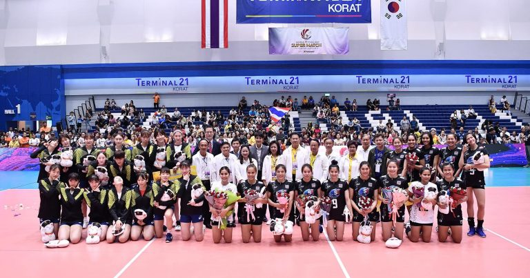 HOSTS THAILAND BEAT KOREA IN NAIL-BITING FIVE-SETTER TO WIN FIRST GAME AT ALL-STAR SUPER MATCH