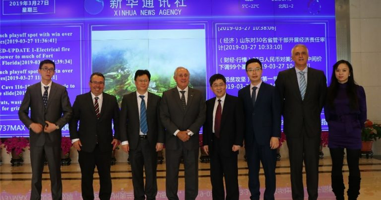 FIVB PRESIDENT MEETS XINHUA AND CCTV IN BEIJING