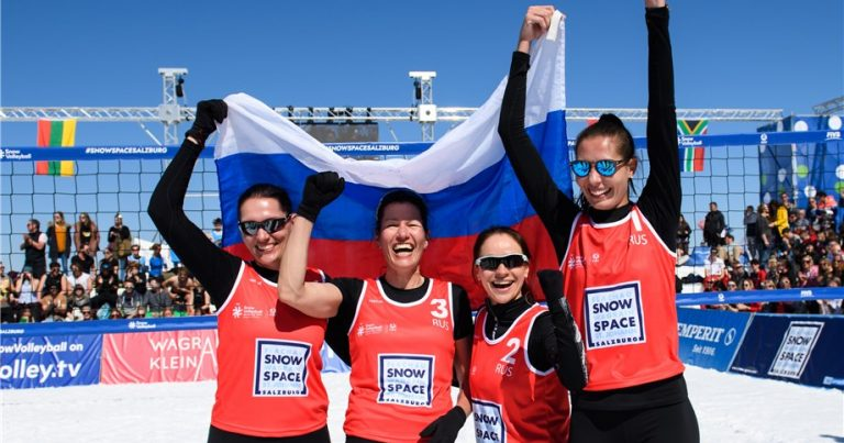 HISTORIC GOLD FOR RUSSIA AT FIRST SNOW VOLLEYBALL WORLD TOUR EVENT