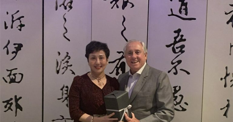 FIVB PRESIDENT MEETS GANTEN DURING HIS VISIT TO CHINA