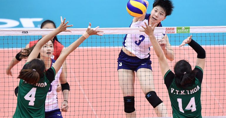 TPE SEE OFF VTV BINH DIEN LONG AN 3-0 TO FIGHT FOR 5TH PLACE