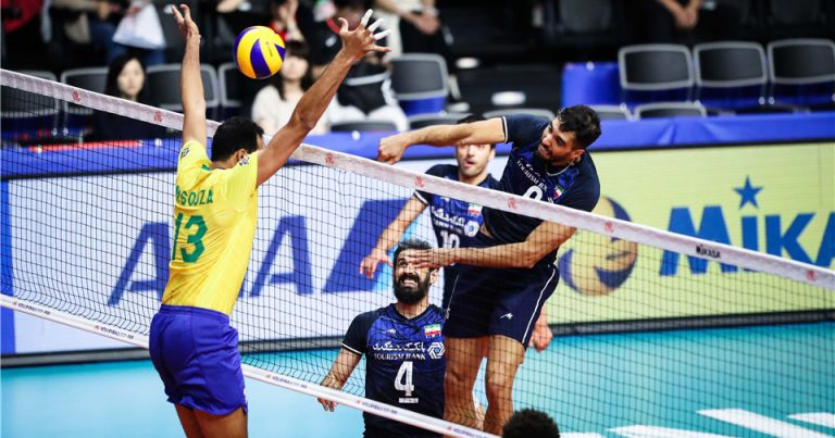 IRAN SUFFER FIRST VNL LOSS TO BRAZIL