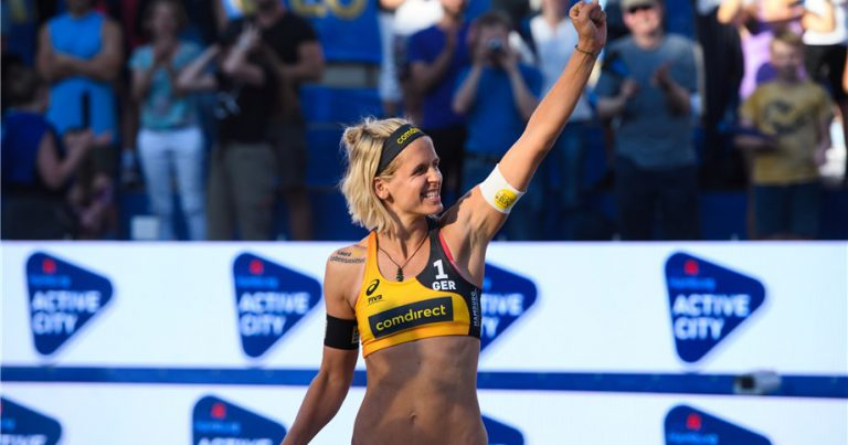 MOTHER IN THE MORNING, BEACH VOLLEYBALL WINNER IN THE EVENING AT THE HAMBURG WORLD CHAMPIONSHIPS