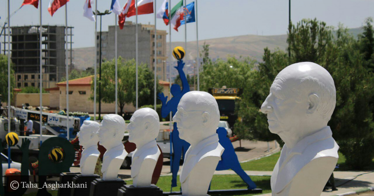 SIX SCULPTURES OF VETERAN PLAYERS UNVEILED IN URMIA
