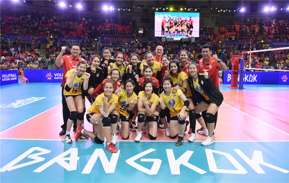 THAILAND CELEBRATE THIRD VNL WIN AMONG IMMENSE HOME CROWD