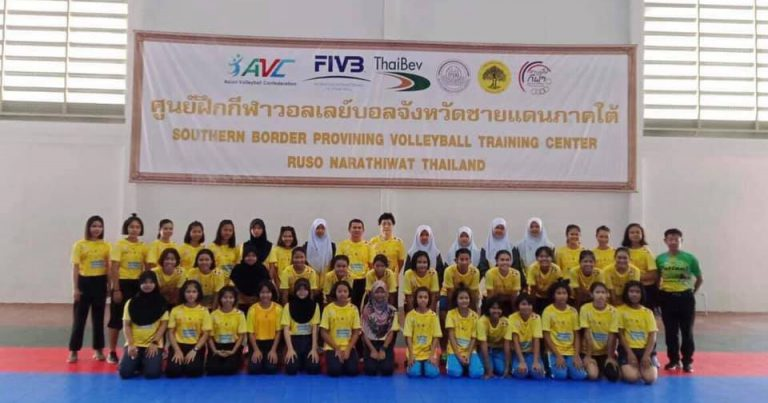 STUDENTS JOIN VOLLEYBALL TRAINING CAMP IN NARATHIWAT