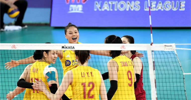 CHINA CLOSE GAP TO TURKEY AT TOP OF VNL