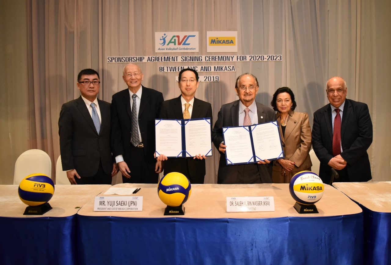 AVC AND MIKASA SIGN NEW SPONSORSHIP CONTRACT