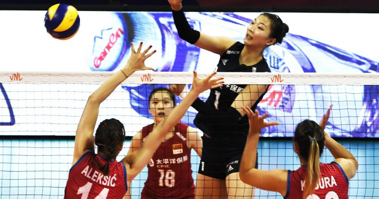 CHINA STAY ATOP VNL STANDING AFTER 3-0 ROUT OF SERBIA