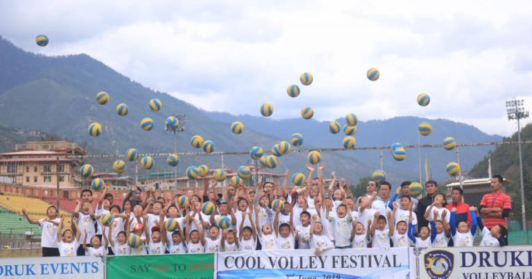 FIRST-EVER OPEN-AIR VOLLEYBALL FESTIVAL HELD IN BHUTAN