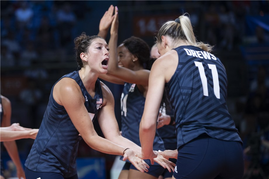 DREWS DELIVERS AS UNITED STATES OPEN WITH WIN IN 2019 VNL FINALS