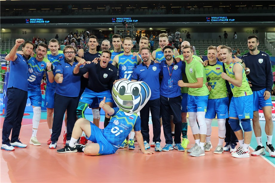 SLOVENIA AND BELARUS CLAIM FIRST WINS IN THE 2019 MEN'S VOLLEYBALL CHALLENGER CUP
