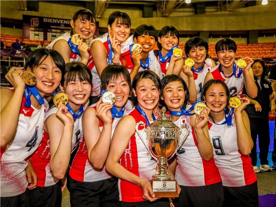 JAPAN BEAT ITALY IN FIVE-SET COMEBACK TO WIN WOMEN'S U20 WORLD CHAMPIONSHIP