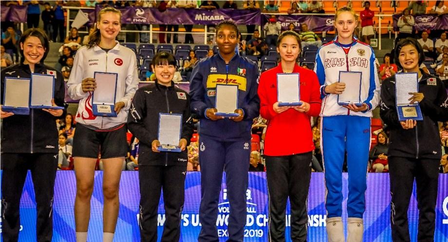 MAYU ISHIKAWA OF JAPAN NAMED WOMEN'S U20 WORLD CHAMPIONSHIP MOST VALUABLE PLAYER