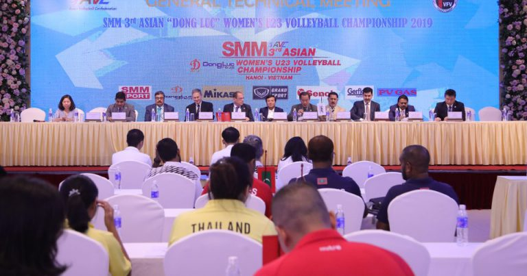TEAM OFFICIALS HEAR RULES AND REGULATIONS AT GENERAL TECHNICAL MEETING