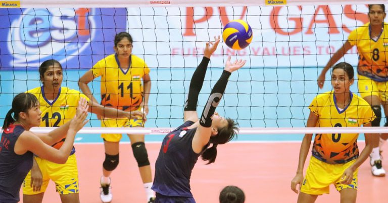 CHINESE TAIPEI DOWN INDIA IN STRAIGHT SETS TO KEEP HOPES ALIVE