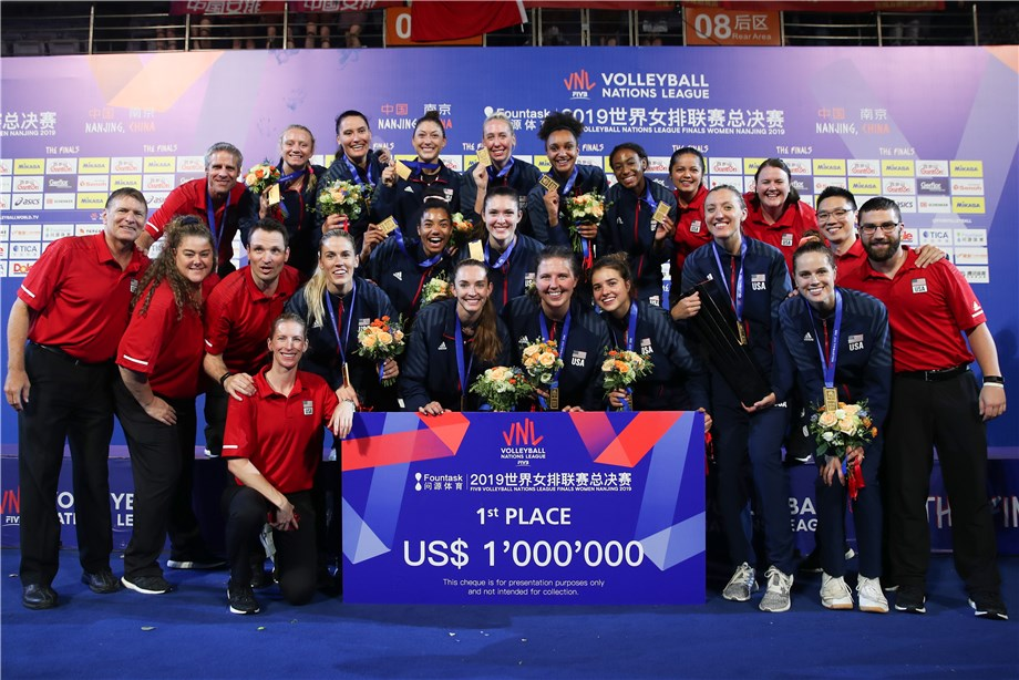 UNITED STATES BECOME DOUBLE CHAMPIONS AT VOLLEYBALL NATIONS LEAGUE