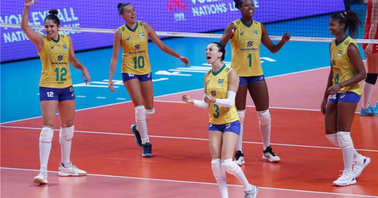 BRAZIL OVERWHELM TURKEY TO REACH THE VNL FINAL FOR THE FIRST TIME
