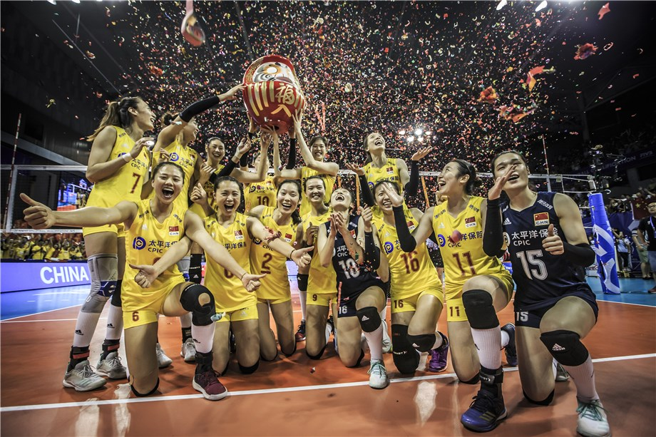 CHINA CELEBRATE QUALIFICATION FOR TOKYO 2020