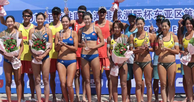 CHINA MAKE A CLEAN SWEEP AT AVC BEACH VOLLEYBALL CONTINENTAL CUP PHASE 1 EASTERN ZONE