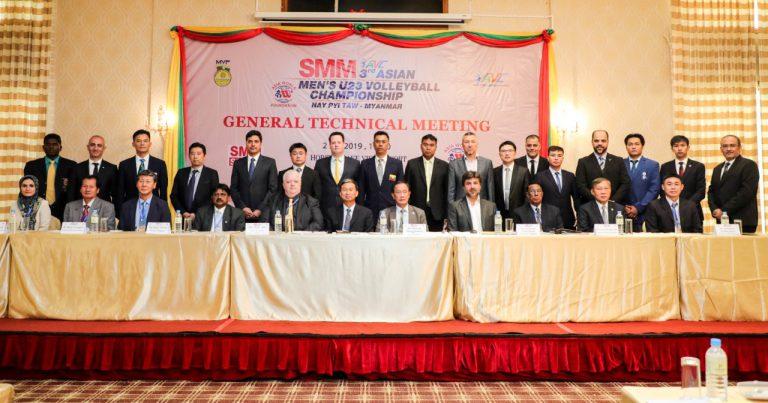 GTM OF 3RD ASIAN MEN'S U23 CHAMPIONSHIP HELD AHEAD OF MATCHDAYS IN MYANMAR