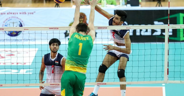INDIA POWER THEIR WAY THROUGH TO SEMI-FINALS AFTER COMEBACK WIN AGAINST THE YOUNG VOLLEYROOS