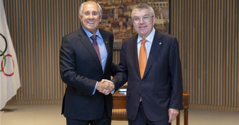 FIVB PRESIDENT AND IOC PRESIDENT DISCUSS VOLLEYBALL SUCCESS STORY