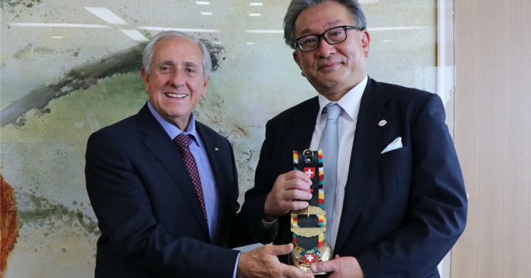 FIVB PRESIDENT OUTLINES VISION FOR TELEVISED VOLLEYBALL IN JAPAN TO FUJI TV