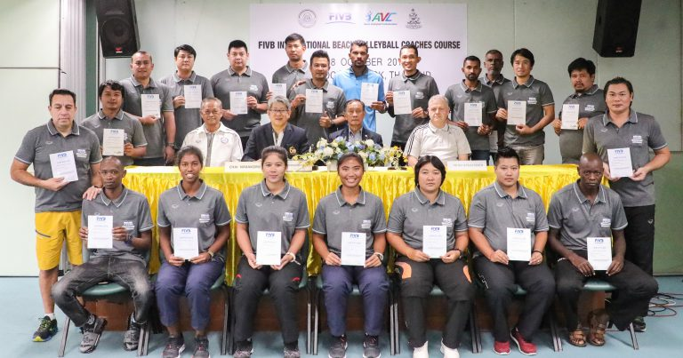 22 COMPLETE FIVB INTERNATIONAL BV COACHES COURSE IN THAILAND