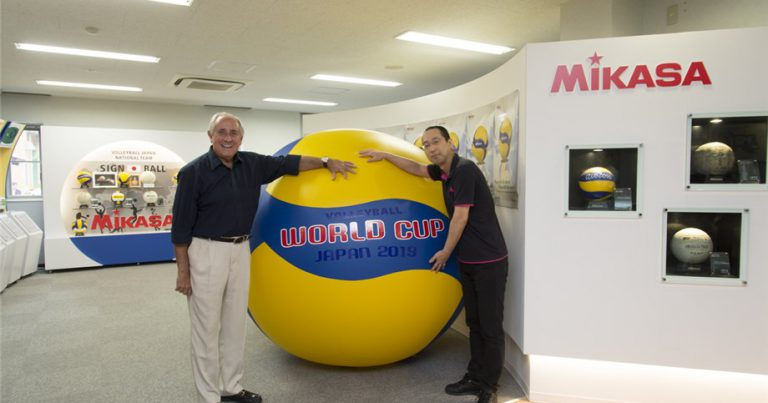MIKASA SHARES THE BALL CREATION PROCESS WITH FIVB PRESIDENT