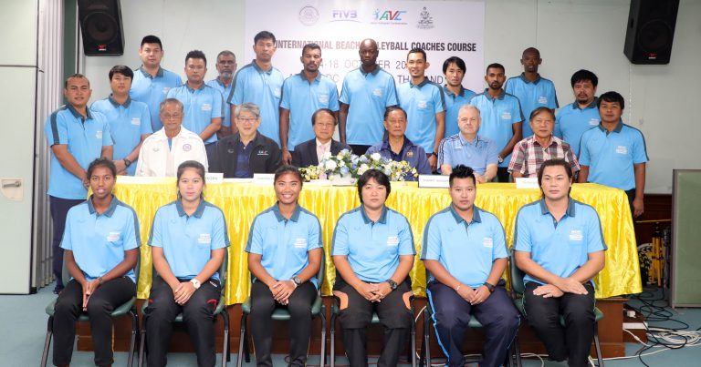 22 ATTEND FIVB BEACH VOLLEYBALL COACHES COURSE IN THAILAND FROM OCT 14-18