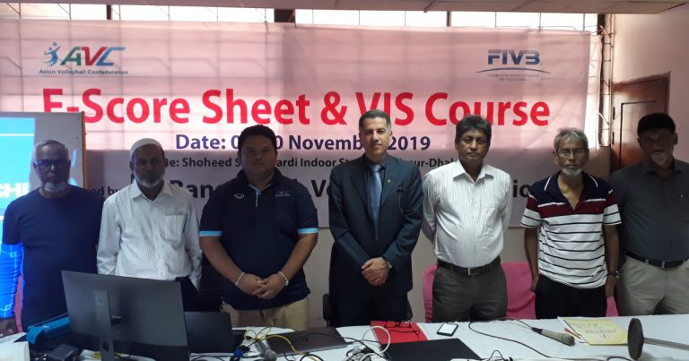 AVC E-SCORESHEET & VIS COURSE HELD AHEAD OF ASIAN SR WOMEN'S CENTRAL ZONE CHAMPIONSHIP IN BANGLADESH