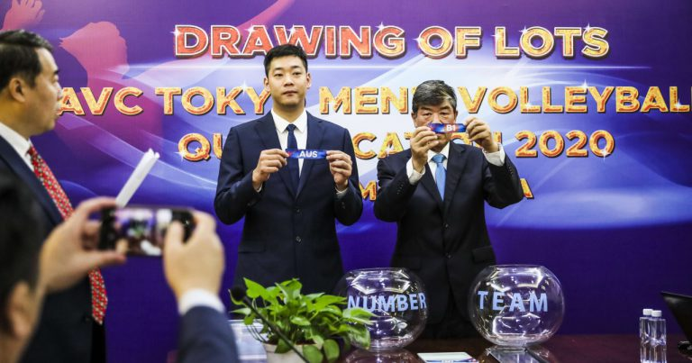 DRAWING OF LOTS CONFIRMED FOR AVC MEN'S TOKYO VOLLEYBALL QUALIFICATION 2020