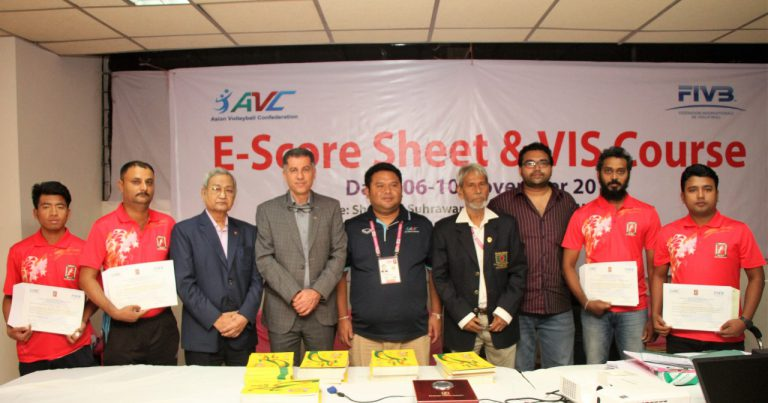 AVC E-SCORESHEET & VIS COURSE COMPLETED SUNDAY IN BANGLADESH