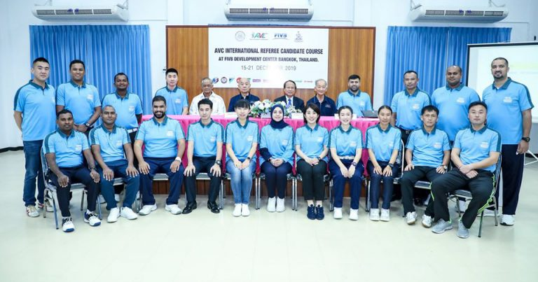 19 ATTEND AVC INTERNATIONAL REFEREE CANDIDATE COURSE IN THAILAND