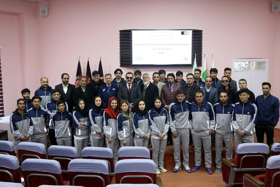 AFGHANISTAN ORGANISES UNPRECEDENTED VOLLEYBALL REFEREEING REFRESHER COURSE