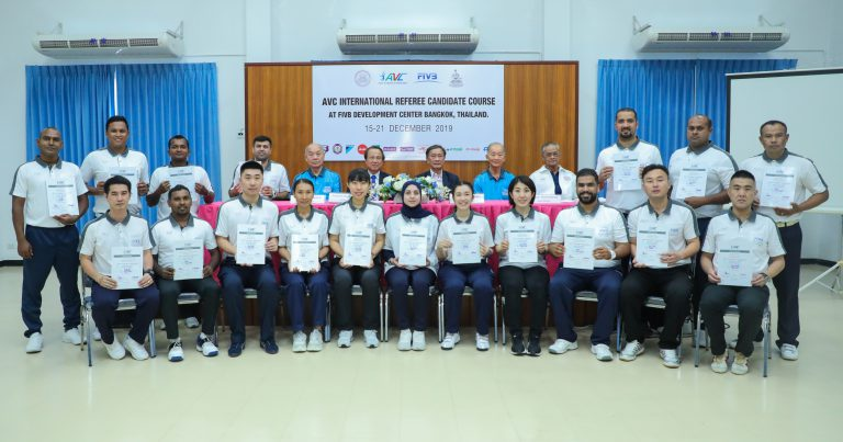 AVC INTERNATIONAL REFEREE CANDIDATE COURSE ENDS SUCCESSFULLY IN THAILAND