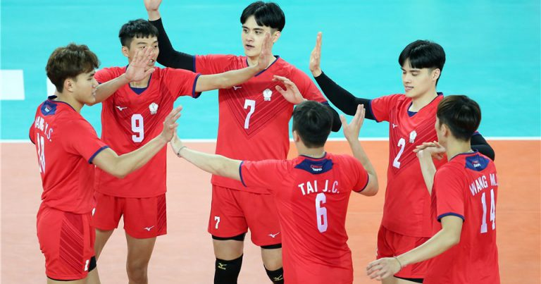 CHINESE TAIPEI TASTE VICTORY AT AVC MEN'S TOKYO QUALIFICATION AFTER 3-1 COMEBACK WIN AGAINST KAZAKHSTAN