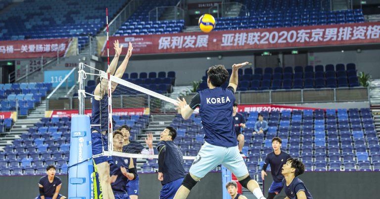 JIANGMEN SPORTS CENTER GYM ALL SET FOR AVC MEN'S TOKYO QUALIFICATION 2020