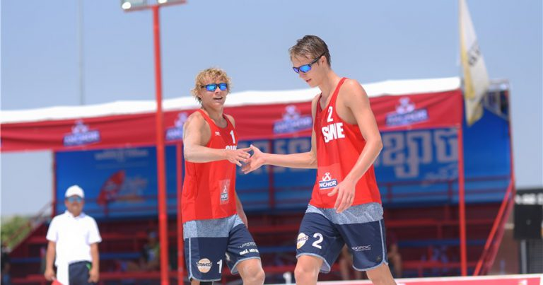 YOUTH OLYMPIC CHAMPIONS AHMAN & HELLVIG OUTLAST EXPERIENCED PAIRS IN PHNOM PENH