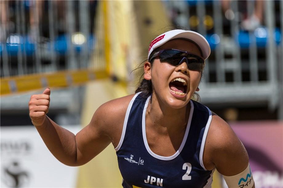 JAPAN'S SAKAGUCHI & SUZUKI CONTINUE FIVB WINNING WAYS
