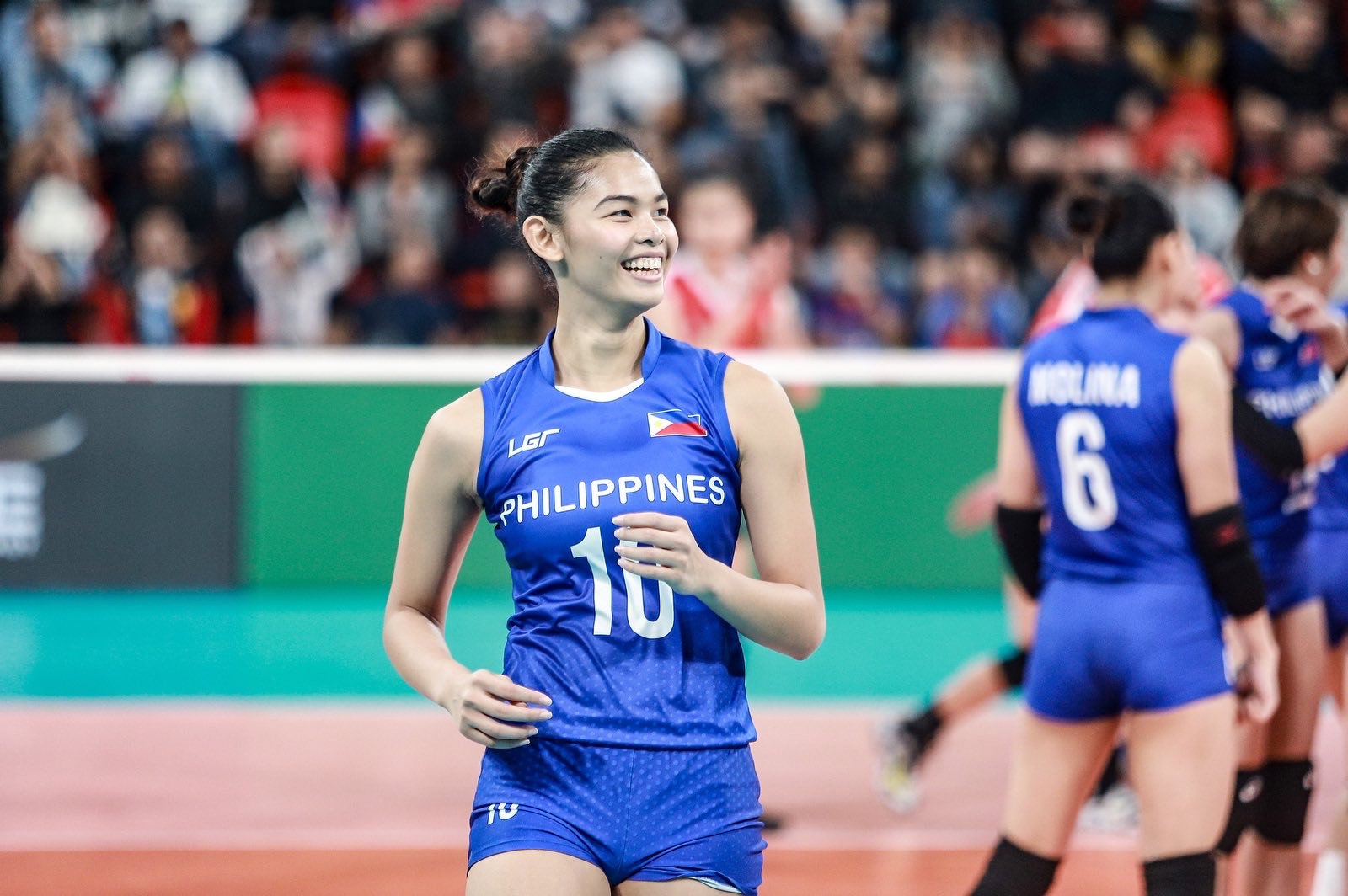 MAJOY BARON GOES FROM VOLLEYBALL TO FASHION