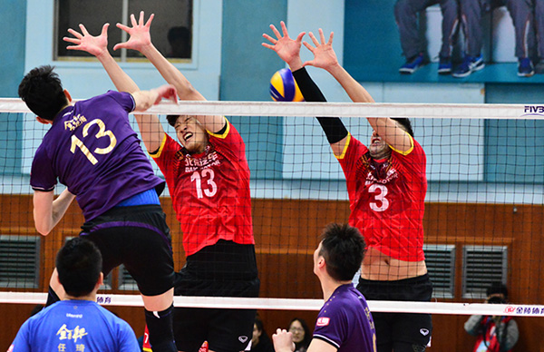 CHINESE MEN'S VOLLEYBALL LEAGUE TO RESUME IN ONE WEEK